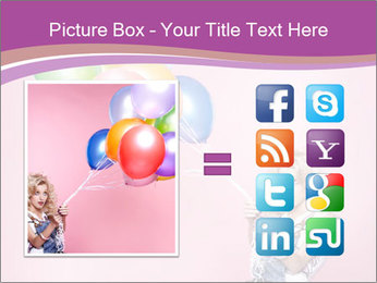 Birthday Woman with Balloons PowerPoint Template - Slide 21