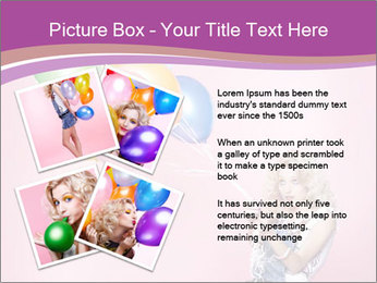 Birthday Woman with Balloons PowerPoint Template - Slide 23