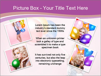 Birthday Woman with Balloons PowerPoint Template - Slide 24