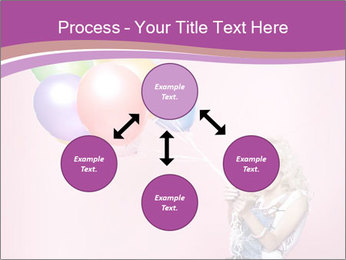 Birthday Woman with Balloons PowerPoint Template - Slide 91