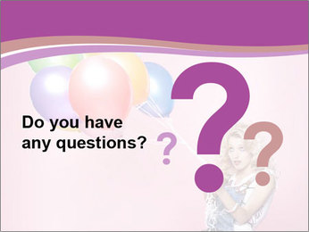 Birthday Woman with Balloons PowerPoint Template - Slide 96