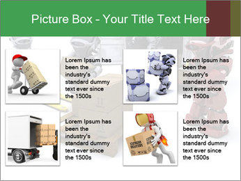 3D Robot Workers PowerPoint Templates - Slide 14
