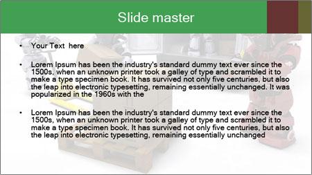 3D Robot Workers PowerPoint Template - Slide 2