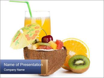 Tropic Breakfast PowerPoint Template - Slide 1