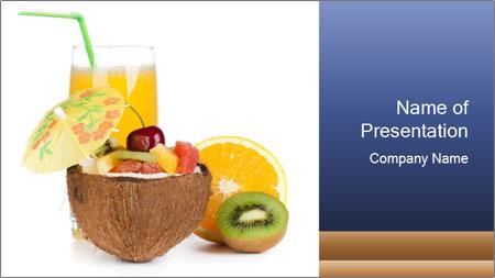 Tropic Breakfast PowerPoint Template