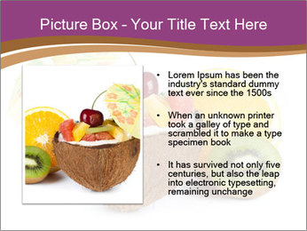 Coconut with Fruit Salad PowerPoint Template - Slide 13