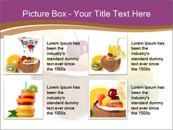 Coconut with Fruit Salad PowerPoint Template - Slide 14