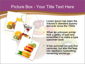 Coconut with Fruit Salad PowerPoint Template - Slide 17