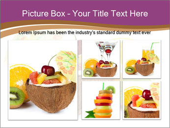 Coconut with Fruit Salad PowerPoint Template - Slide 19