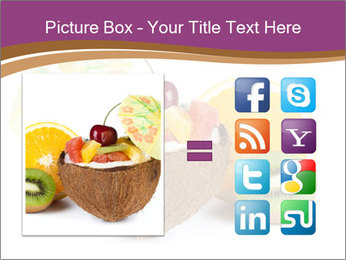 Coconut with Fruit Salad PowerPoint Template - Slide 21