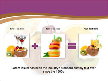 Coconut with Fruit Salad PowerPoint Template - Slide 22