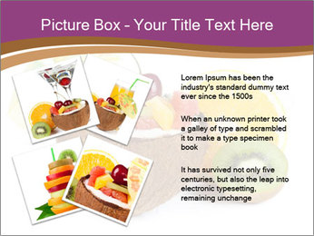 Coconut with Fruit Salad PowerPoint Template - Slide 23