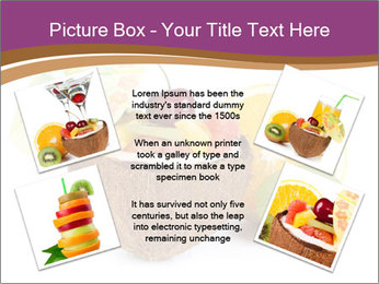Coconut with Fruit Salad PowerPoint Template - Slide 24