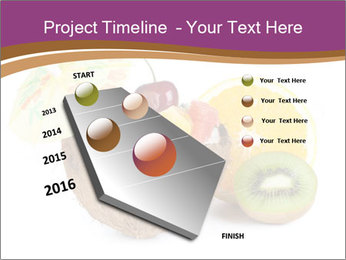 Coconut with Fruit Salad PowerPoint Template - Slide 26