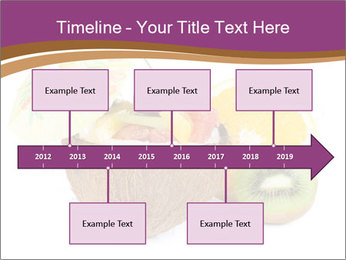 Coconut with Fruit Salad PowerPoint Template - Slide 28