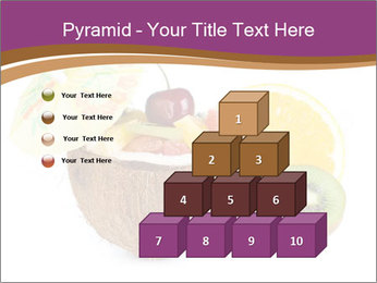 Coconut with Fruit Salad PowerPoint Template - Slide 31