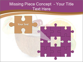 Coconut with Fruit Salad PowerPoint Template - Slide 45