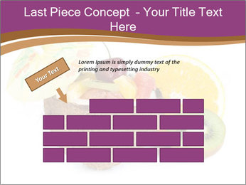 Coconut with Fruit Salad PowerPoint Template - Slide 46