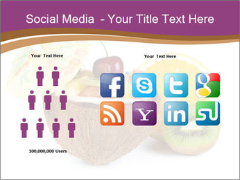 Coconut with Fruit Salad PowerPoint Template - Slide 5