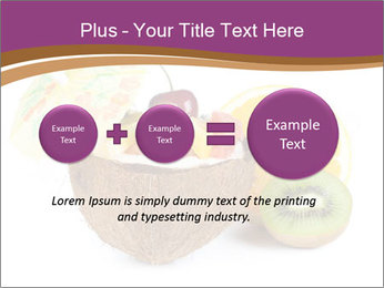 Coconut with Fruit Salad PowerPoint Template - Slide 75