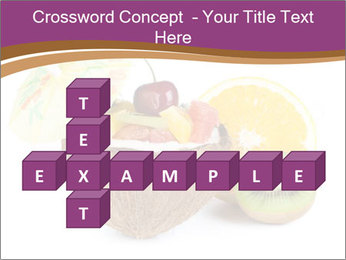 Coconut with Fruit Salad PowerPoint Template - Slide 82
