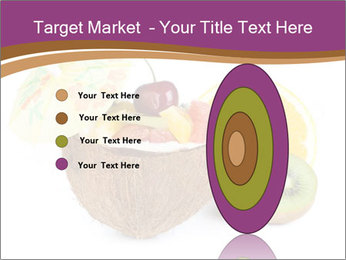 Coconut with Fruit Salad PowerPoint Template - Slide 84