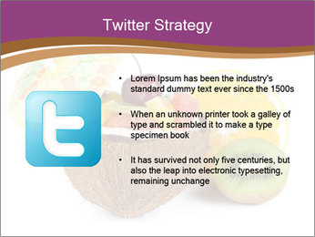 Coconut with Fruit Salad PowerPoint Template - Slide 9