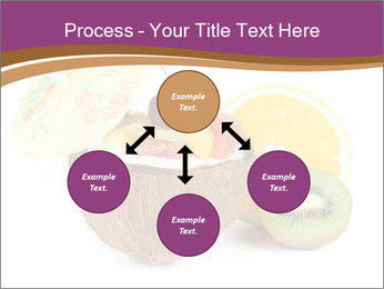 Coconut with Fruit Salad PowerPoint Template - Slide 91