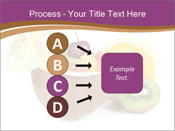 Coconut with Fruit Salad PowerPoint Template - Slide 94