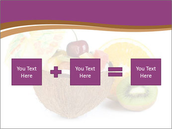 Coconut with Fruit Salad PowerPoint Template - Slide 95