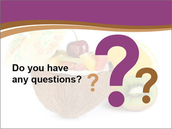 Coconut with Fruit Salad PowerPoint Template - Slide 96