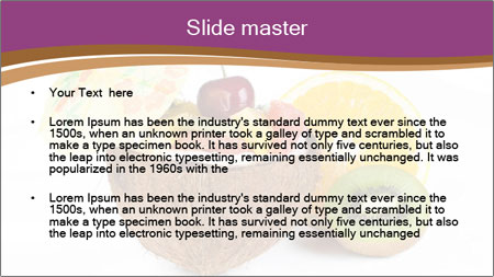 Coconut with Fruit Salad PowerPoint Template - Slide 2