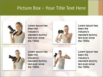 Pretty Girl in Summer Light PowerPoint Template - Slide 14