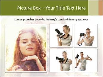 Pretty Girl in Summer Light PowerPoint Template - Slide 19