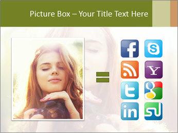 Pretty Girl in Summer Light PowerPoint Template - Slide 21