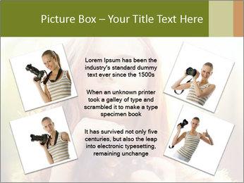 Pretty Girl in Summer Light PowerPoint Template - Slide 24