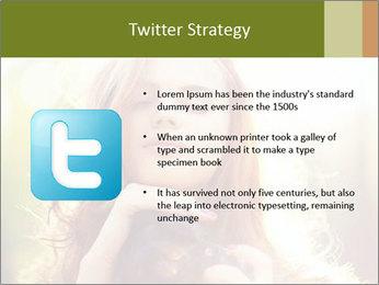 Pretty Girl in Summer Light PowerPoint Template - Slide 9