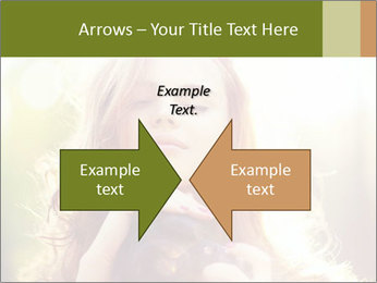 Pretty Girl in Summer Light PowerPoint Template - Slide 90