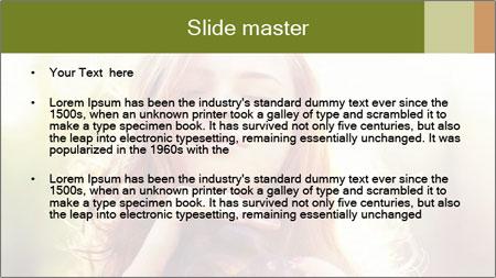 Pretty Girl in Summer Light PowerPoint Template - Slide 2