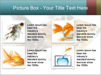 Golden Fish with Unusual Ornament PowerPoint Template - Slide 14