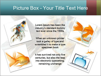 Golden Fish with Unusual Ornament PowerPoint Template - Slide 24