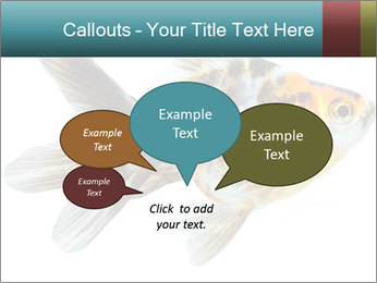 Golden Fish with Unusual Ornament PowerPoint Template - Slide 73