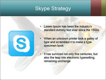 Golden Fish with Unusual Ornament PowerPoint Template - Slide 8