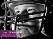 Football Player in Helmet PowerPoint Templates
