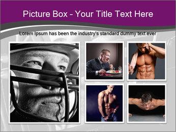Football Player in Helmet PowerPoint Templates - Slide 19