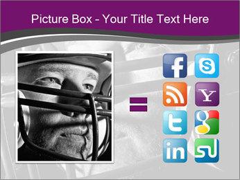 Football Player in Helmet PowerPoint Templates - Slide 21
