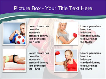 Lady Training with Red Dumbbells PowerPoint Templates - Slide 14