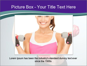 Lady Training with Red Dumbbells PowerPoint Templates - Slide 15