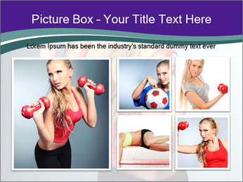 Lady Training with Red Dumbbells PowerPoint Templates - Slide 19