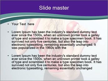 Lady Training with Red Dumbbells PowerPoint Templates - Slide 2